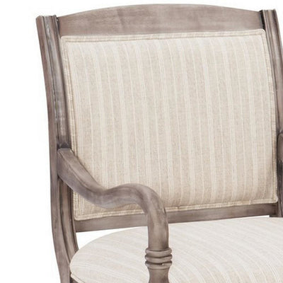 19 Inch Wood Accent Chair with Padded Seat Brown By Casagear Home BM232454