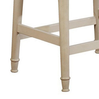 Counter Stool with Nailhead Trim Details and Flared Legs Beige By Casagear Home BM232473