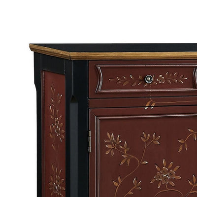 41 Inches 2 Drawer and 2 Door Console Table Brown and Black By Casagear Home BM232489