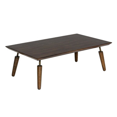16 Inch Mid Century Modern Wooden Coffee Table, Brown By Casagear Home