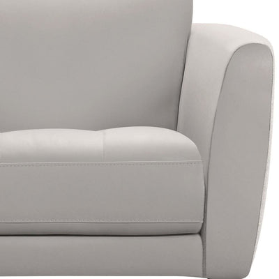 19 Inches Leatherette Sofa Chair with Flared Armrests White - BM236873 By Casagear Home BM236873