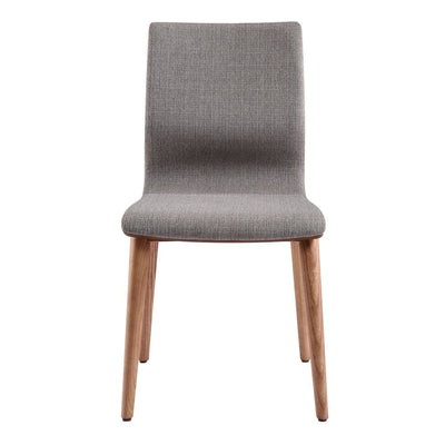 Fabric Sloped Back Dining Chair with Splayed Legs Set of 2 Gray - BM236991 By Casagear Home BM236991