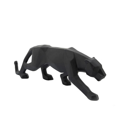 19 Polyresin Leopard Figurine with Glossy Accents Black - BM238302 By Casagear Home BM238302