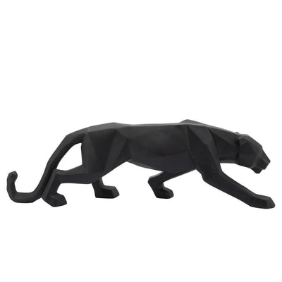 "19"" Polyresin Leopard Figurine with Glossy Accents, Black - BM238302 By Casagear Home"