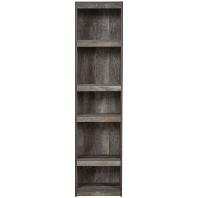 72 Inches 5 Tier Wooden Pier with Adjustable Shelves Gray - BM238403 By Casagear Home BM238403