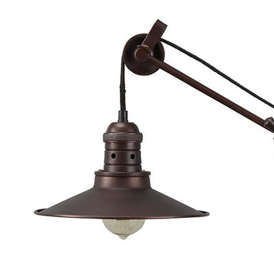 Metal Desk Lamp with Adjustable Arm and Shade Bronze - BM238409 By Casagear Home BM238409