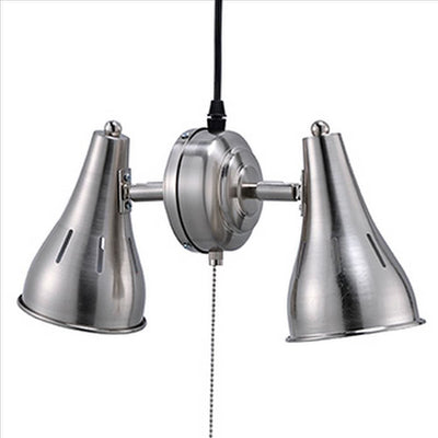 Pendant Ceiling with Metal Cone Adjustable 2 Light Silver By Casagear Home BM240317