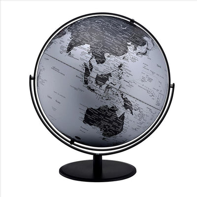 Globe Accent Decor with Inbuilt LED, Black and Gray By Casagear Home