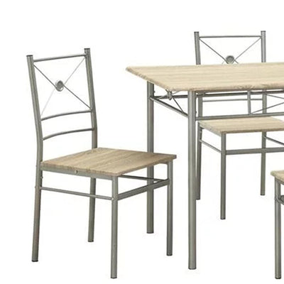 Sturdy Dining Table In A Set Of Five Silver CCA-100035
