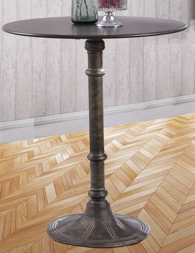 Round Industrial Metal Counter Height Table Black By Coaster CCA-100064