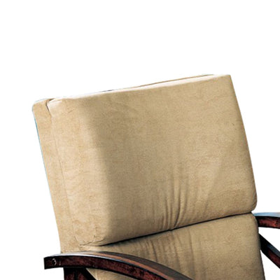 Snug Upholstered Arm Game Chair Brown CCA-100172