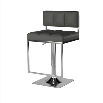 Classic Adjustable Metal Bar Stool Gray & Silver By Coaster CCA-100195