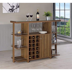 Sturdy Modern Bar Unit with Wine Bottle Storage & Buy Classily Antique Bar Cabinets Carts Online | Casagear.com