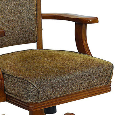 Cozy Upholstered Arm Game Chair Brown CCA-100952