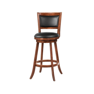 "Contemporary 29"" Bar Stool with Upholstered Seat, Brown ,Set of 2"