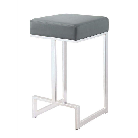Metal Counter Height Stool, Grey-Coaster