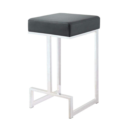 Metal Counter Height Stool, Black-Coaster