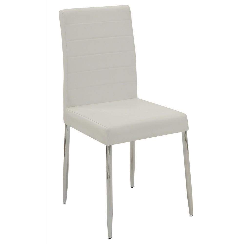Dining Side Chair, White, Set of 4 By Coaster