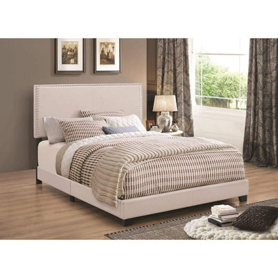 Modern Panel Twin Bed, Ivory