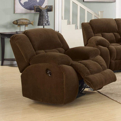 Comfortably Plush Glider Recliner Chair, Brown