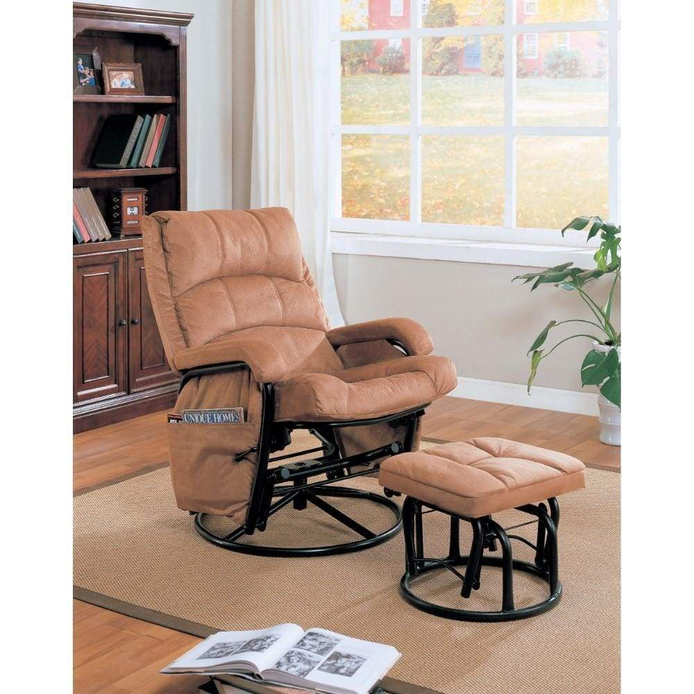Downrightly Glider Chair Ottoman
