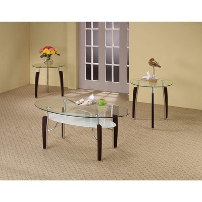 Sturdy 3-Piece Contemporary occasional table set