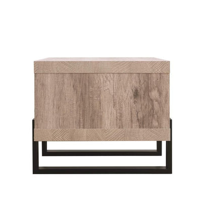 Modern Driftwood Open Shelf Coffee Table Gray and Brown CCA-720878