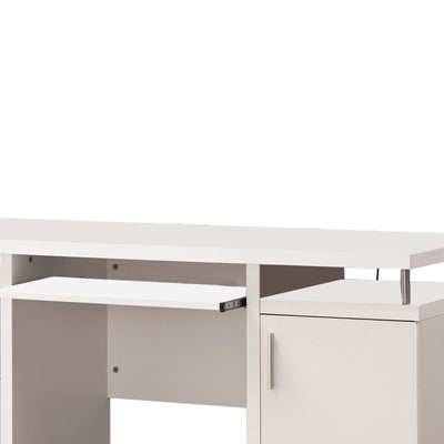 Computer Desk with 2 Drawers and Cabinet White CCA-800108