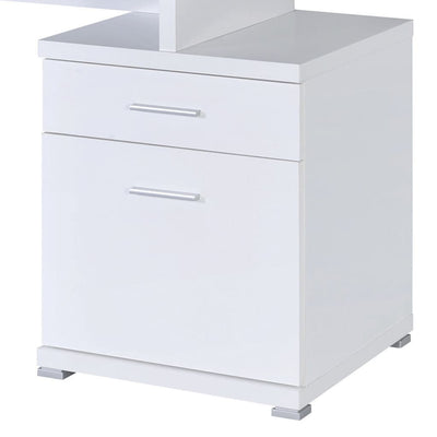 Gorgeous white Wooden desk with cabinet CCA-800110