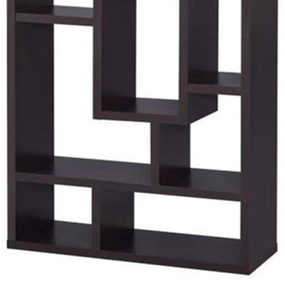 Aesthetic Fine Looking Rectangular Bookcase Brown CCA-800259