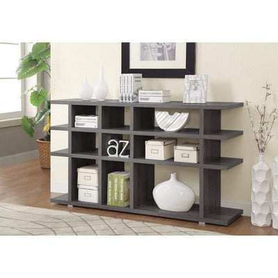 Contemporary Wooden Bookcase, Gray