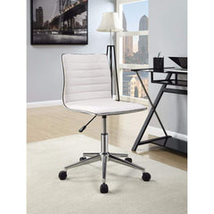 Contemporary Mid-Back Desk Chair, White