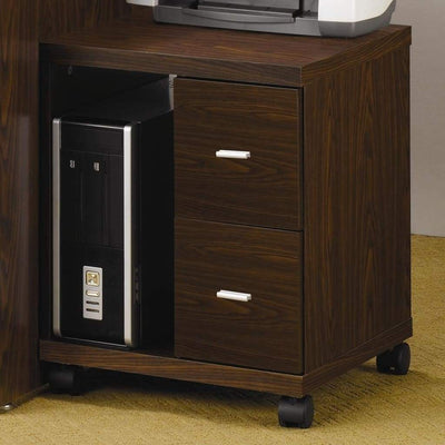 Simply Defined 2-Drawers CPU Stand, Brown