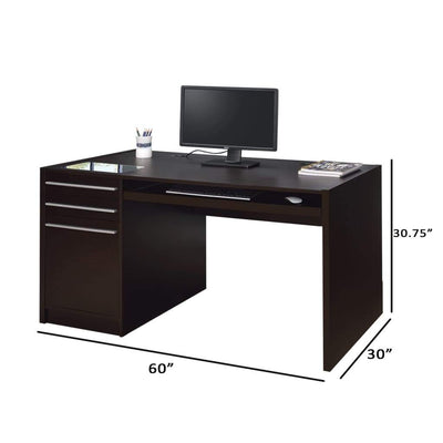Contemporary Connect-IT Computer Desk Brown CCA-800982