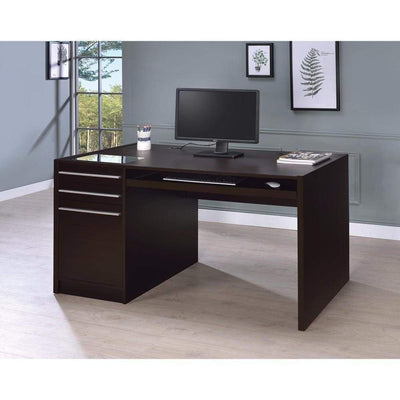 Contemporary Connect-IT Computer Desk, Brown