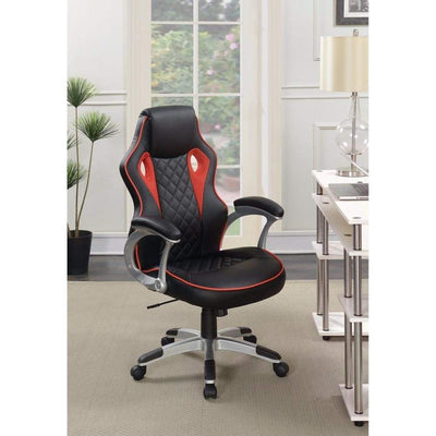 Fancy Design Ergonomic Gaming/ Office Chair, Black/Red
