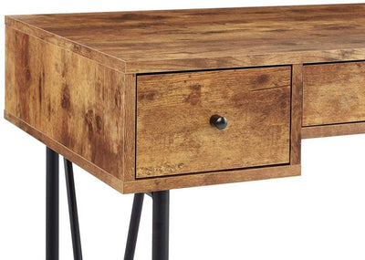 Chic Atelier Writing Desk-3 Drawer Antique Brown CCA-801541