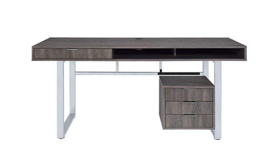 Elegant Contemporary Style Wooden Writing Desk Gray CCA-801897