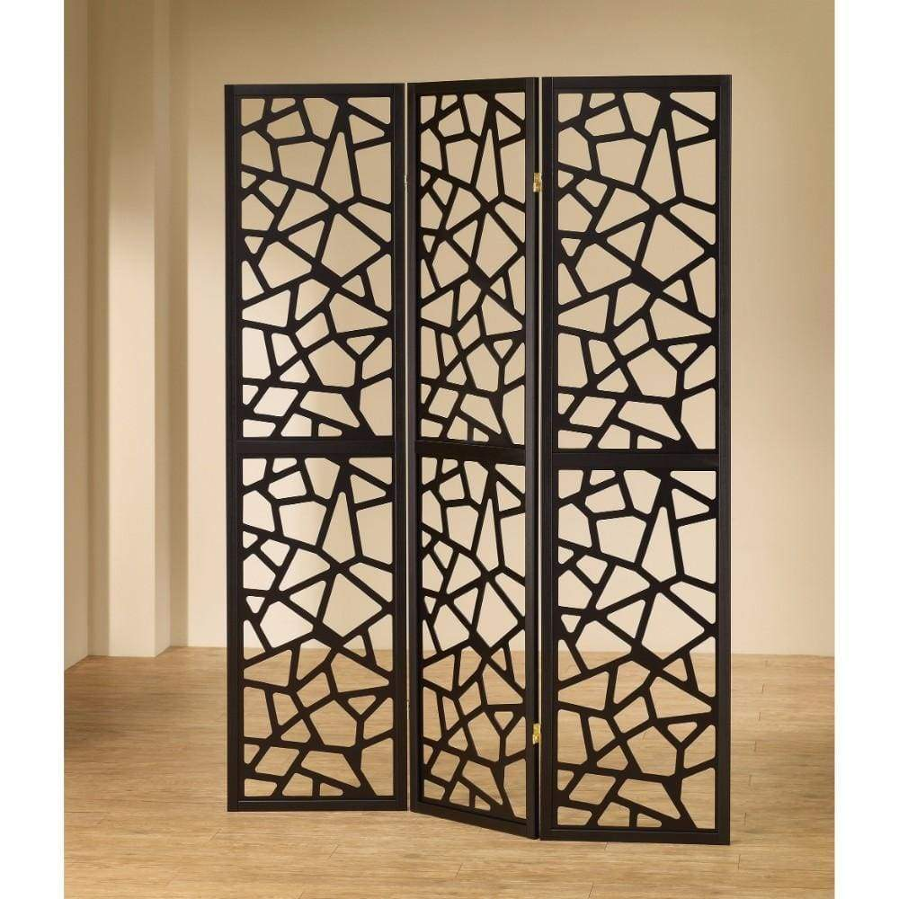 intricate sliding room divider. Intricate Mosaic Cutouts Folding Screen  Black Buy Online