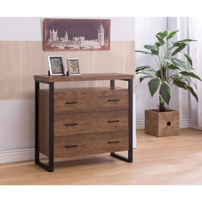 Rectangular Wooden Accent Cabinet With 3 Drawers, Brown By Coaster