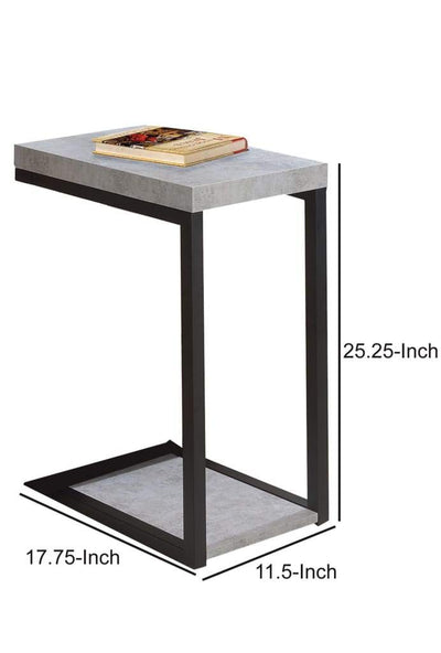 Industrial Faux Cement Designed Snack Table Gray And Black By Coaster CCA-902933