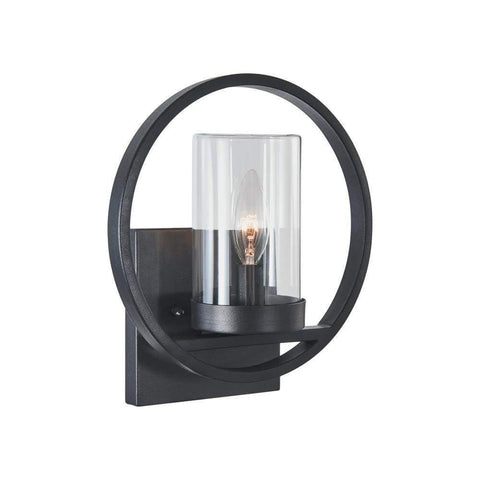 "GRIFLET Transitional 1 Light Rubbed Bronze Outdoor Wall Sconce 12"" Height"
