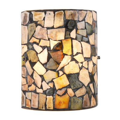 "Sandy Mosaic 1 Light  Indoor Wall Sconce 8"" Wide - CH3C002GR08-WS1"