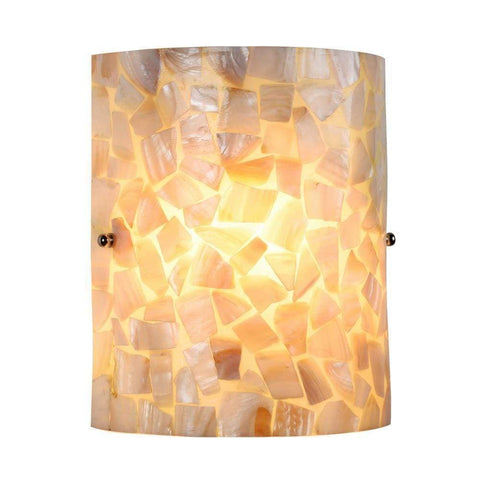 Large Scroll Base Wall Sconce with Brown Glass By IMAX