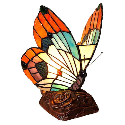 "10"" Butterfly Accent Table Lamp with Molded Details, Multicolor By Chloe Lighting"