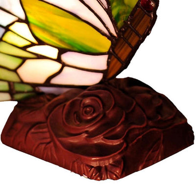 10 Tiffany Style Metal Table Lamp with Butterfly Design Multicolor CHL-CH10221GA05-NL1