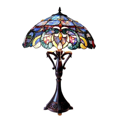Corinth Mosaic Glass Oversized Lamp-IMAX