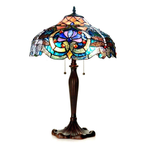 Benzara Charming Metal Paper Table Lamp