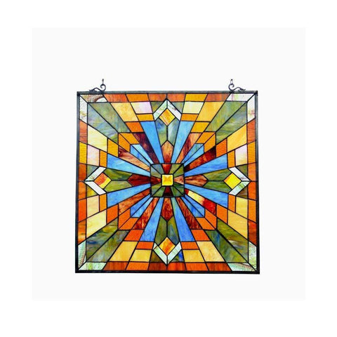 Emma, Tiffany-Glass Window Panel 24""