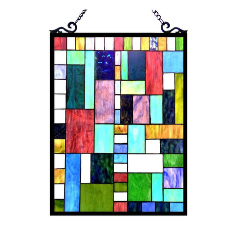 PICASSO Tiffany-glass Rectangle Window Panel 18x24